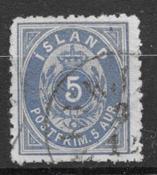 Iceland  1875 - AFA 6 B - cancelled