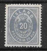 Iceland  1882 - AFA 14a - mint hinged