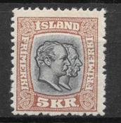 Iceland  1907 - AFA 62 - mint not hinged