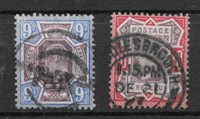 Great-Britain 1902 - AFA 111+112 - cancelled