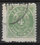 Iceland  1873 - AFA  Tj 1B - cancelled