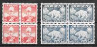 Greenland 1946 - AFA 26-27 i 4 blok - mint not hinged
