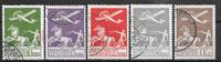 Denmark 1925 - AFA 144-46+181-82 - cancelled