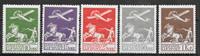Denmark 1925 - AFA 144-46+181-82 - mint not hinged