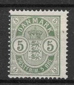 Denmark 1884 - AFA 34x - mint hinged