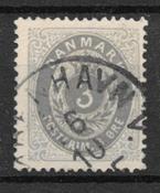 Denmark 1875 - AFA 22a  - cancelled