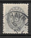 Danmark 1875 - AFA 22a  - stemplet