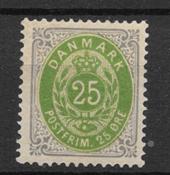 Denmark 1875 - AFA 29y - mint hinged