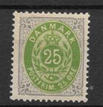 Danmark 1875 - AFA 29y - ustemplet