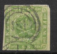 Denmark 1857 - AFA 5 - cancelled