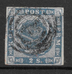 Danmark 1855 - AFA 3 - stemplet