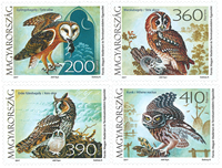 Hungary - Owls - Mint set 4v