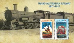 Australien - Jernbanejubilæum - Postfrisk miniark