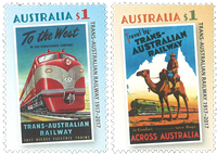 Australien - Jernbanejubilæum - Postfrisk sæt 2v