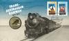 Australien - Jernbanejubilæum - Møntbrev blåt