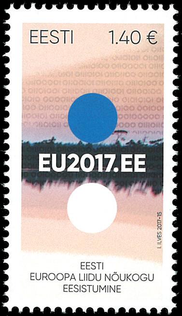 Estland - Formandskab for EU - Postfrisk frimærke