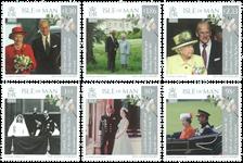 Man - Dronning Elizabeth og Prins Philip - Postfrisk sæt 6v