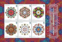 Jersey - 200-året for kaleidoskoper - Postfrisk miniark
