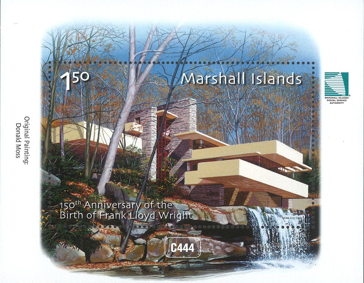 Marshall Øerne - Frank Lloyd Wright - Postfrisk miniark