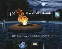 Marshall Islands - John F.Kennedy / Painting *MS - Souvenir sheet