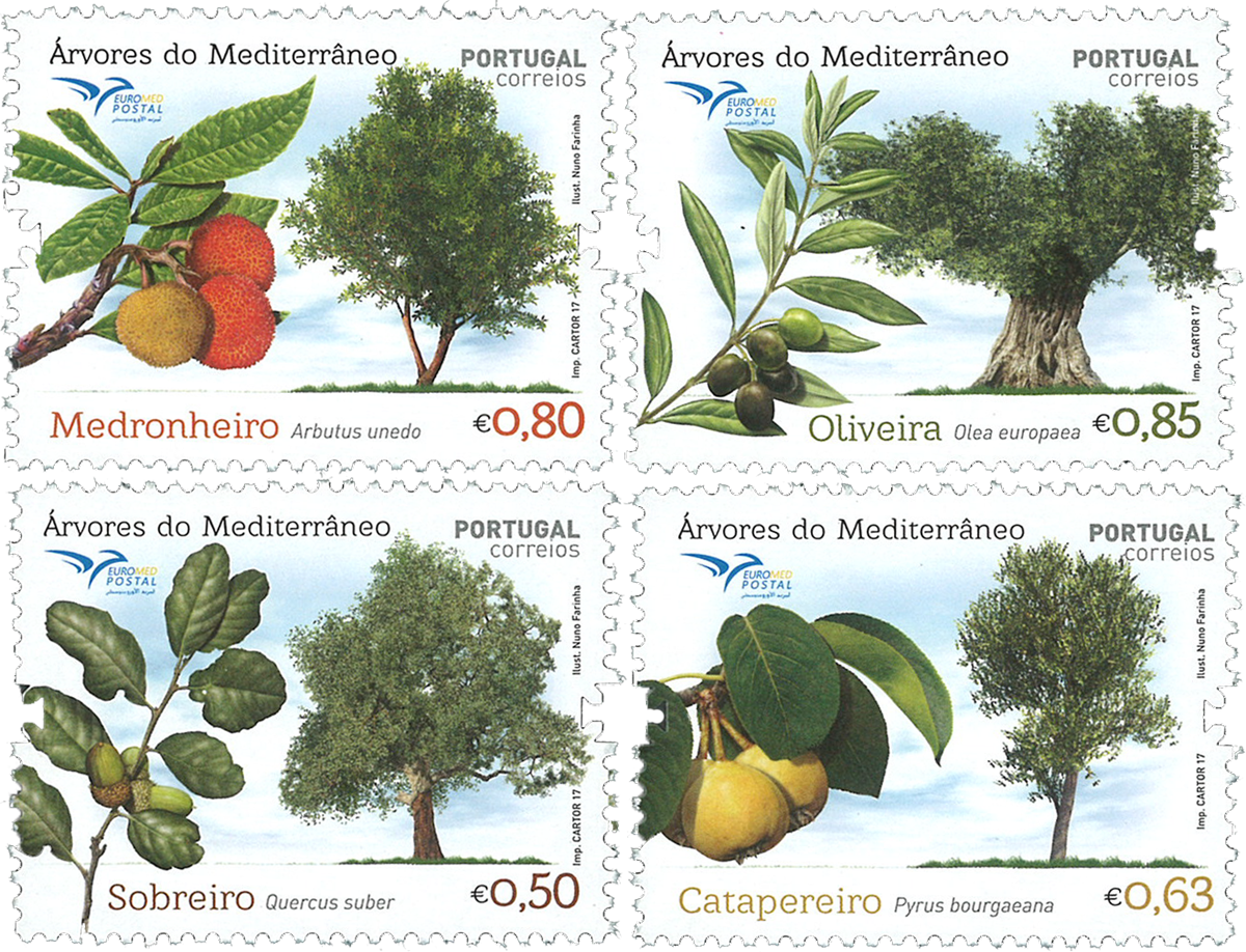 Portugal - Euromed - Postfrisk sæt 4v