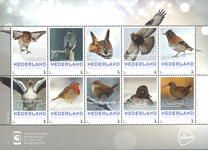 Holland - Vinterens fugle - Postfrisk 10-ark