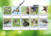 Holland - Sommerens fugle - Postfrisk 10-ark