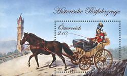 Østrig - Landpostbil - Postfrisk miniark