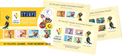 Papua Ny Guinea - XV Pacific Games - Postfrisk sæt 12v