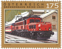 Austria - 150 years of the Brenner railway - Mint stamp