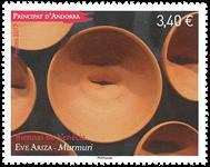 Fransk Andorra - Kunstudstilling i Venedig - Postfrisk frimærke