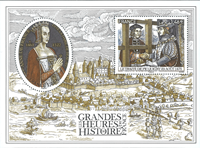 France - History of France - Mint souvenir sheet