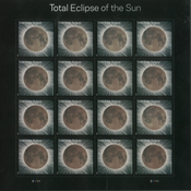 United States - Total Eclipse of Sun - Mint sheetlet