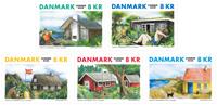 Denmark - Holiday houses - Mint set 5v