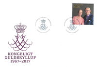 Denmark - Royal golden annv. single FDC - First Day Cover