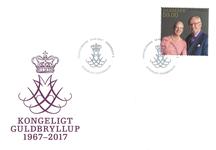 Danmark - Kongeligt guldbryllup enkelt F - Førstedagskuvert