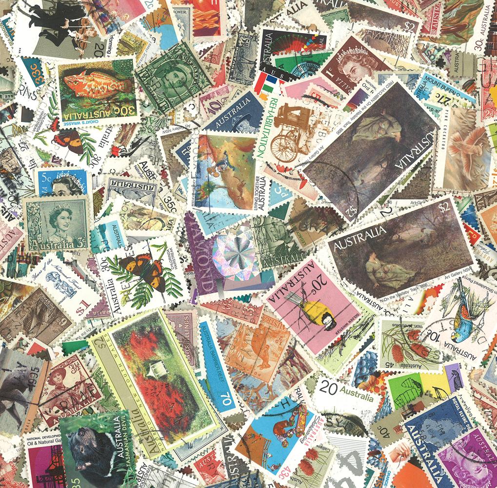 Australien - 1000 forskellige stemplede frimærker