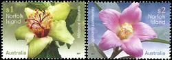 Norfolk Øerne - Blomster - Postfrisk sæt 2v