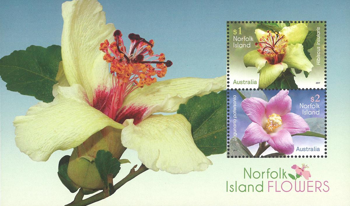 Norfolk Øerne - Blomster - Postfrisk miniark