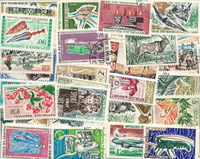 French Colonies - 75 engraved stamps
