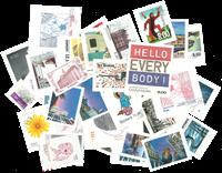Danmark 33 enkeltmærker fra selvklæbende ark