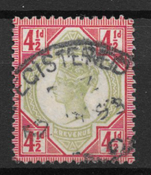 Englanti 1887 - AFA 92 - Leimattu