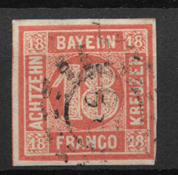 Bavaria 1861 - AFA 14 - Cancelled