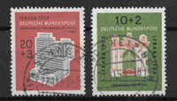 West Germany 1953 - AFA 1134-1135 - Cancelled
