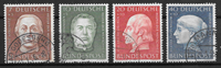 West Germany 1954 - AFA 1163-66 - Cancelled