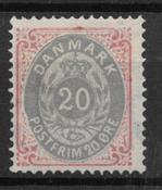 Denmark 1875 - AFA 28y - Mint