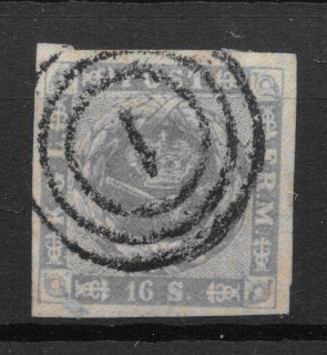 Danmark 1854 - AFA 6 - stemplet