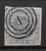 Denmark 1854 - AFA 6 - Cancelled