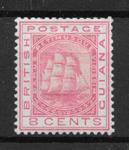 Briti. Guiana 1863 - SG 95 - ustemplet