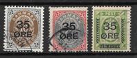 Denmark 1912 - AFA  60-62 - Cancelled